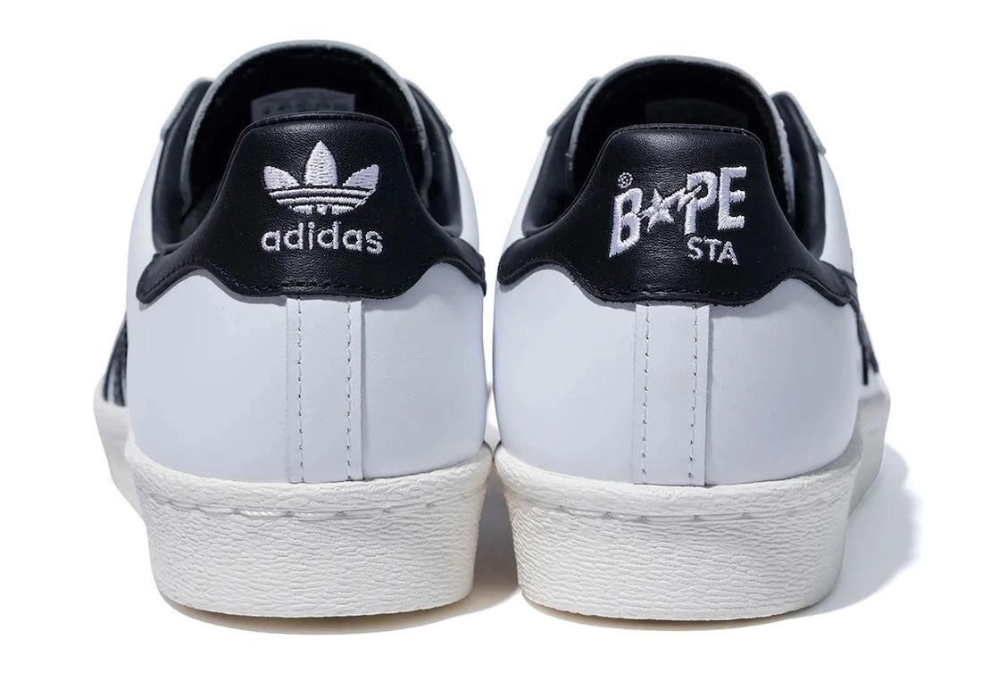 Bape adidas Superstar White Black Release Date