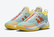 Jordan Westbrook One Take II Teal Orange Yellow CW2457-300 Release Date Info