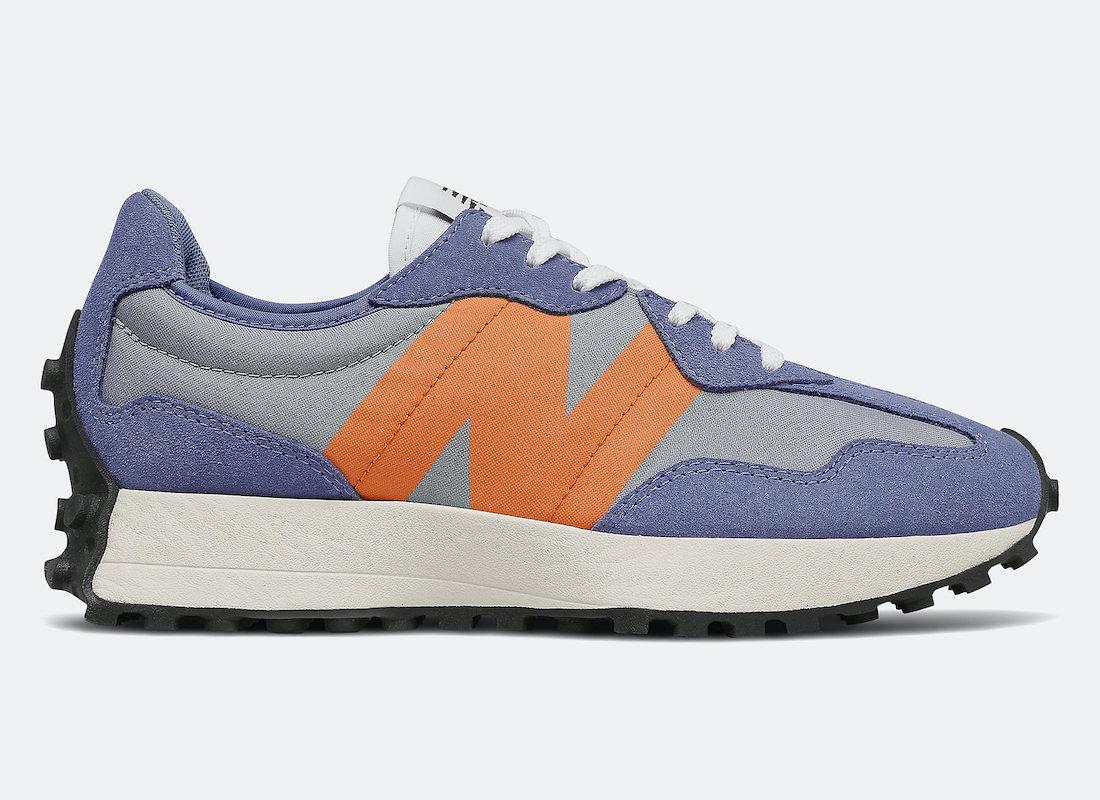New Balance 327 Magnetic Blue Varsity Orange Release Date Info