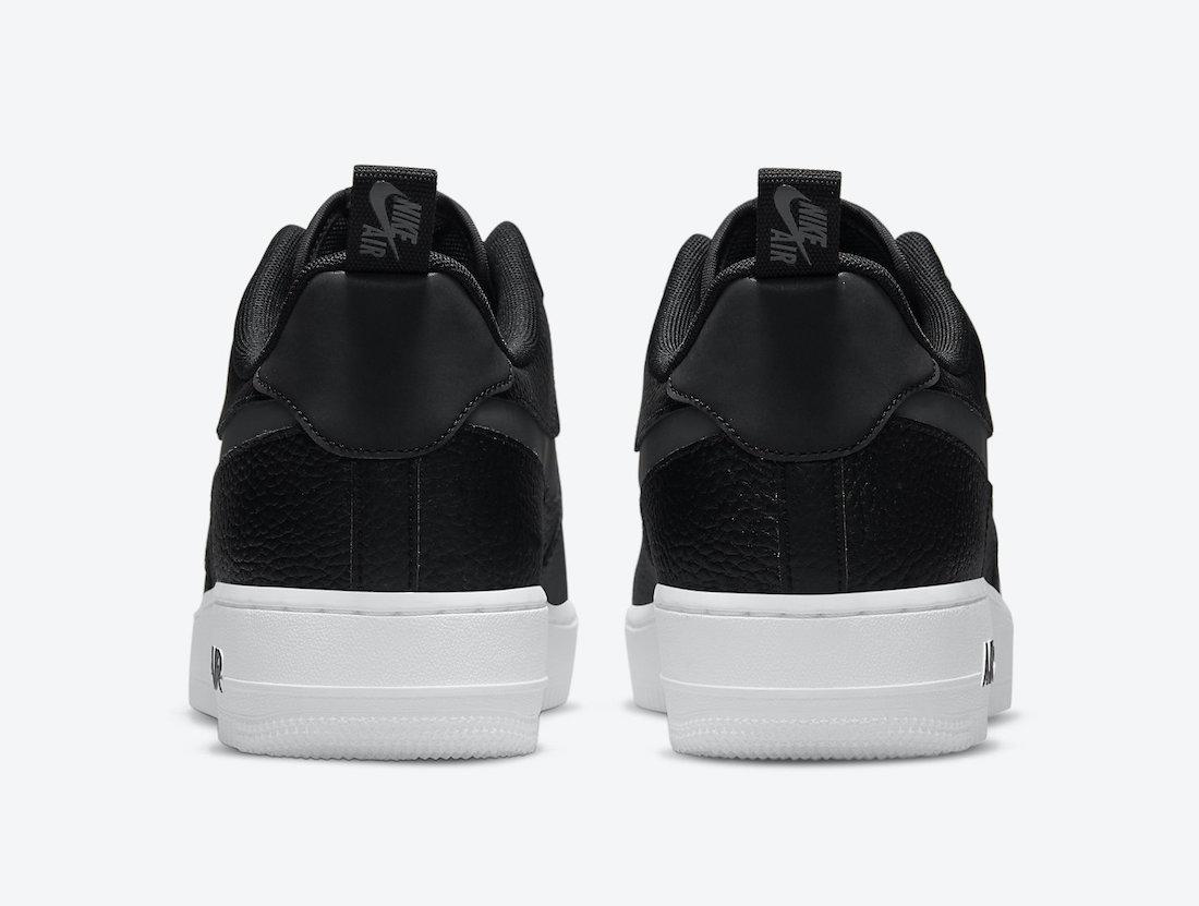Nike Air Force 1 07 LV8 Black Orange White DJ6887-001 Release Date Info