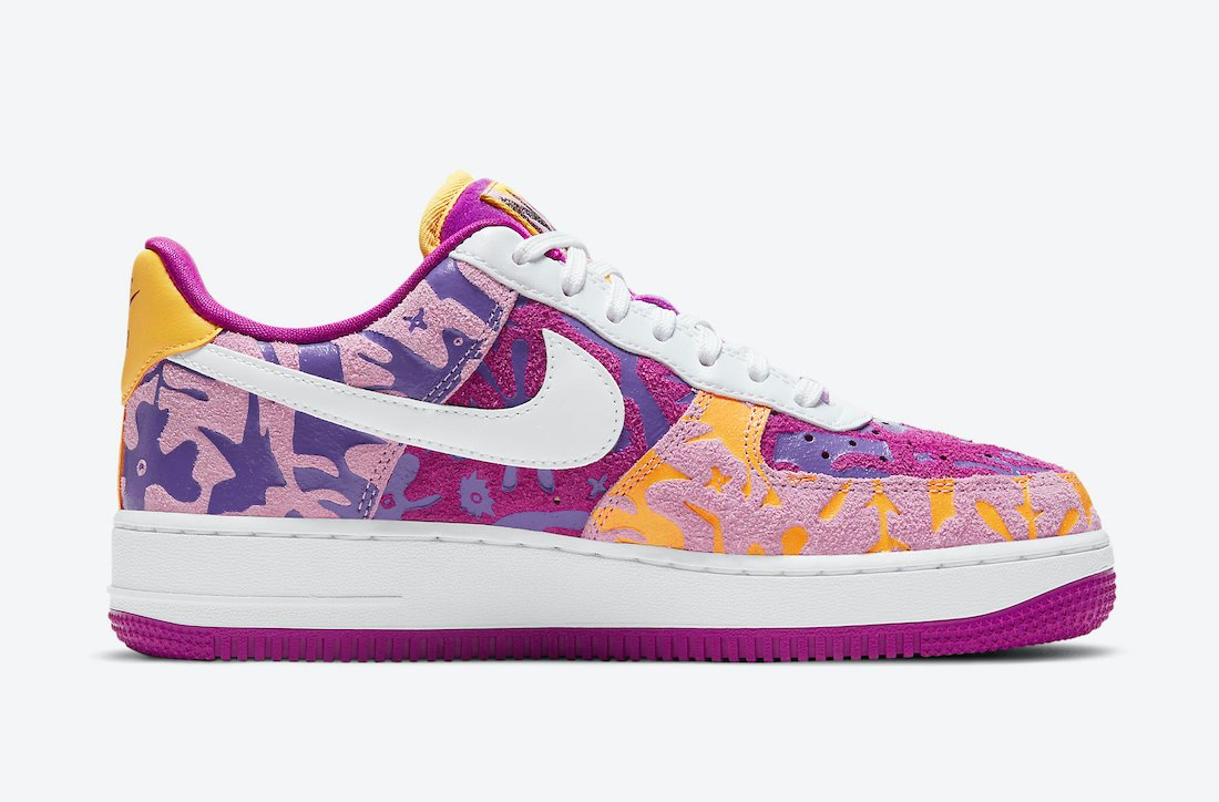 Nike Air Force 1 07 LV8 Red Plum DD5516-584 Release Date Info