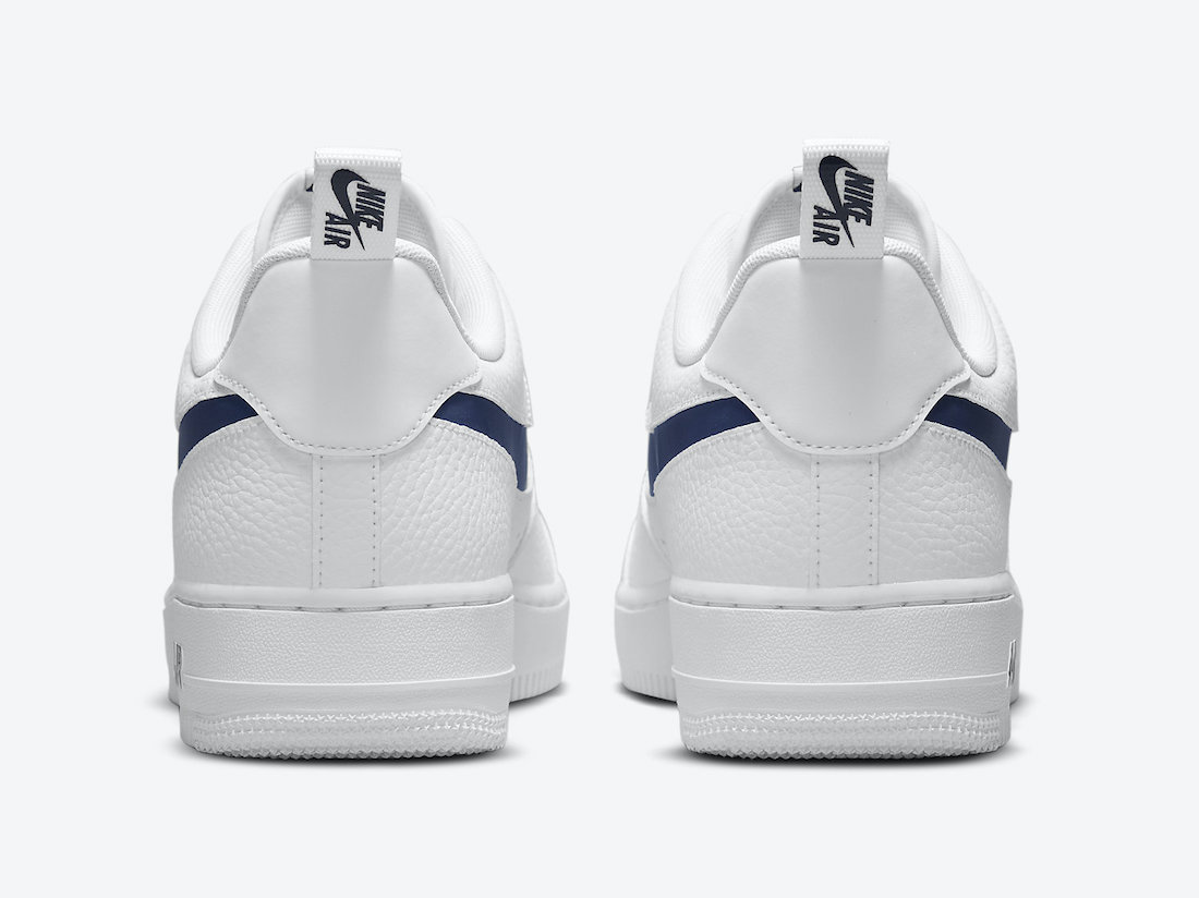 Nike Air Force 1 07 LV8 White Navy Red DJ6887-100 Release Date Info
