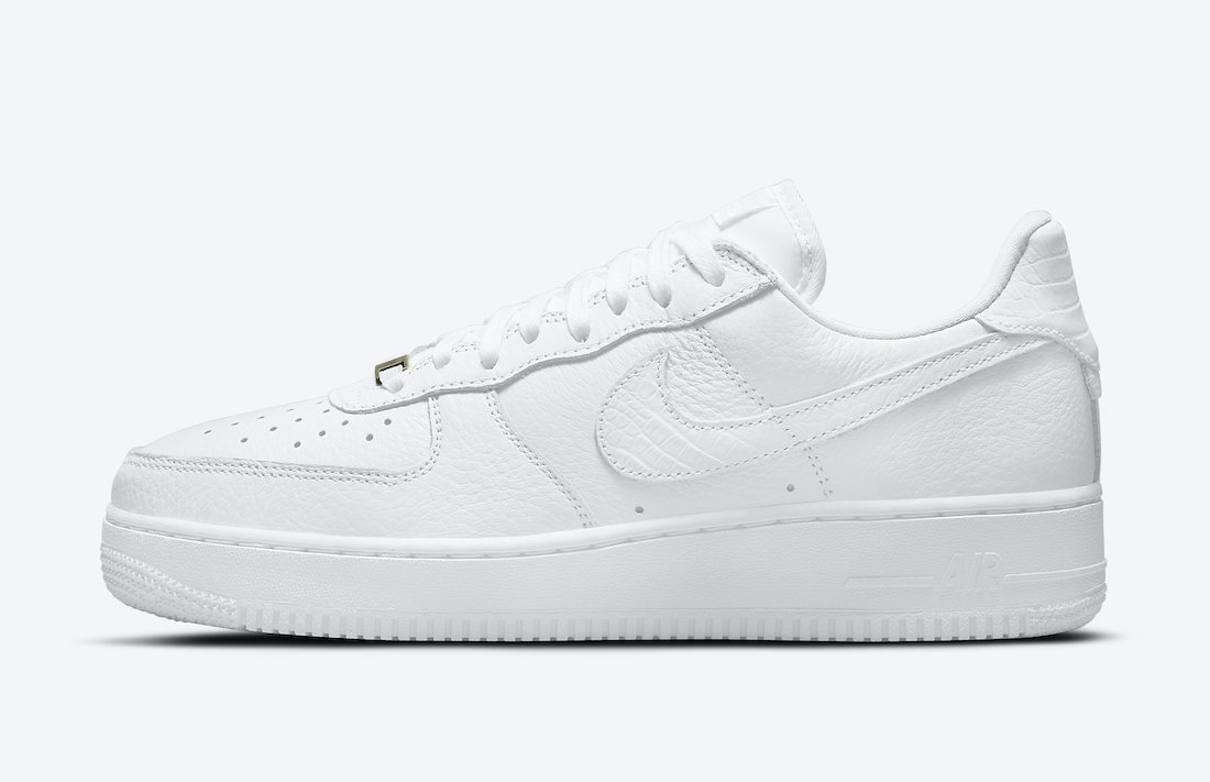 Nike Air Force 1 Craft White Croc CU4865-100 Release Date Info