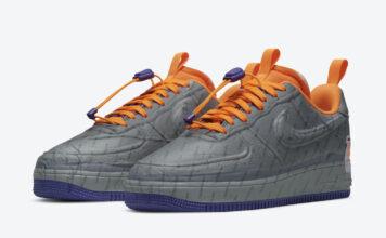 Nike Air Force 1 Experimental Light Smoke Grey Court Purple Total Orange CZ1528-001 Release Date Info