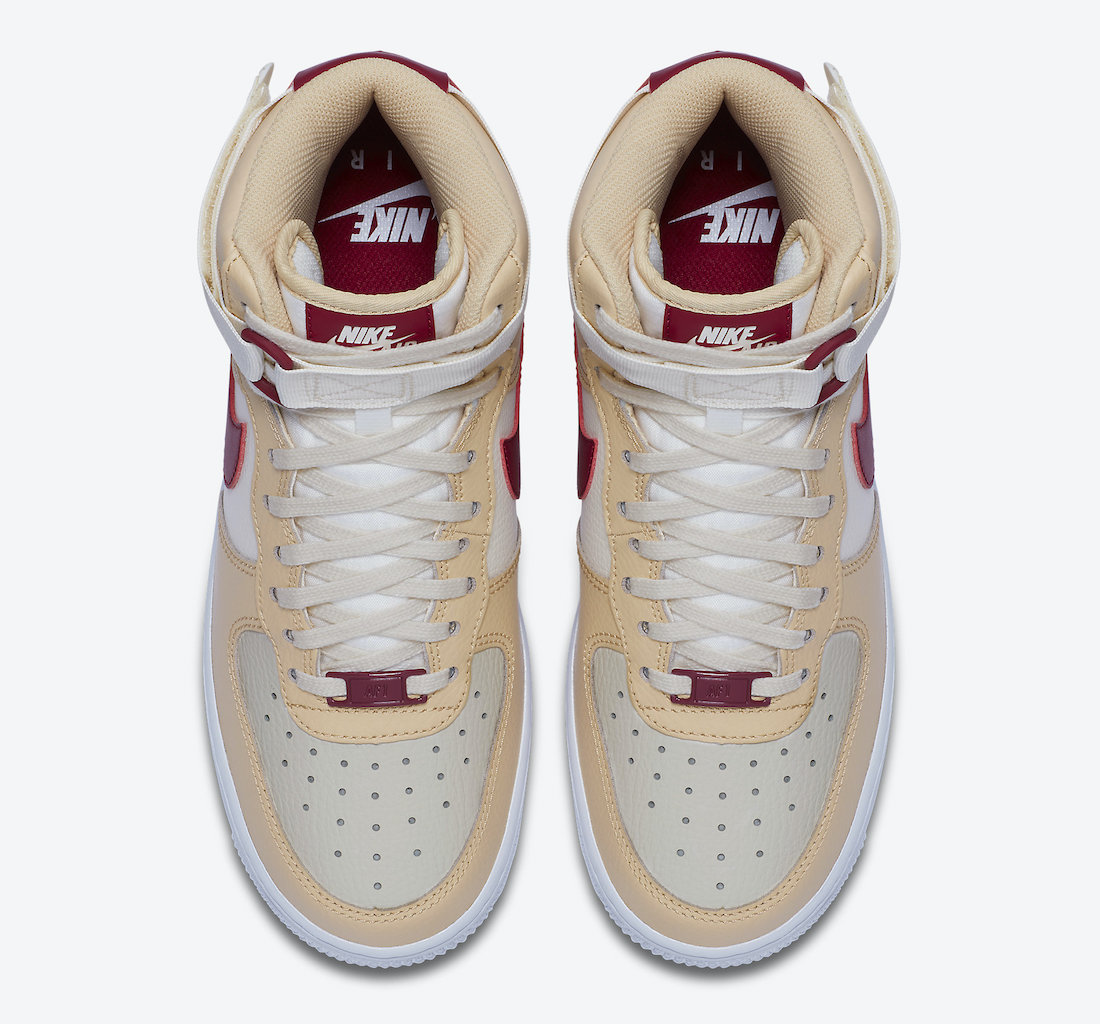 Nike Air Force 1 High WMNS Noble Red 334031-200 Release Date Info