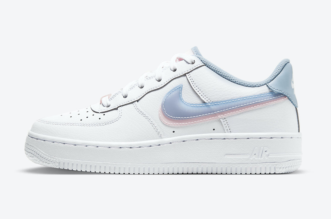 Nike Air Force 1 Low GS Double Swoosh CW1574-100 Release Date Info