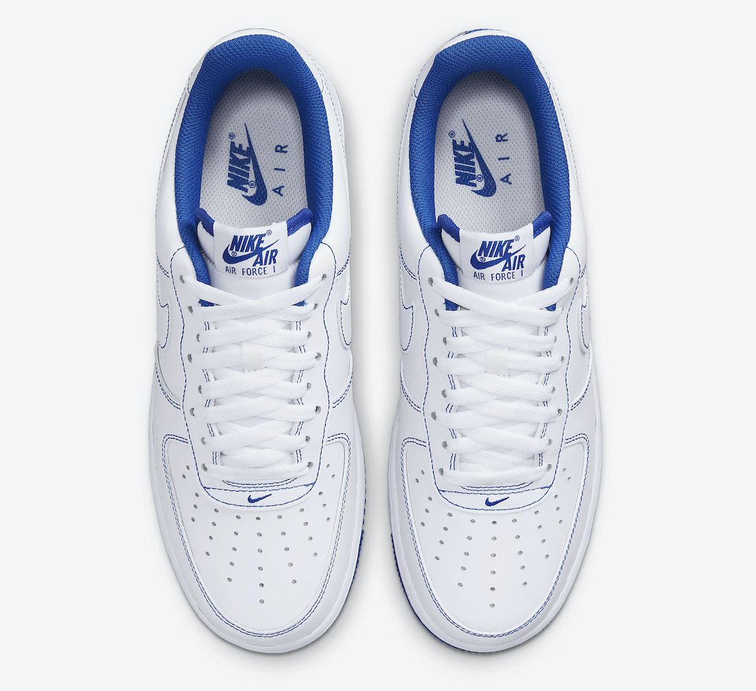 Nike Air Force 1 Low White Game Royal cv1724-101 Release Date Info