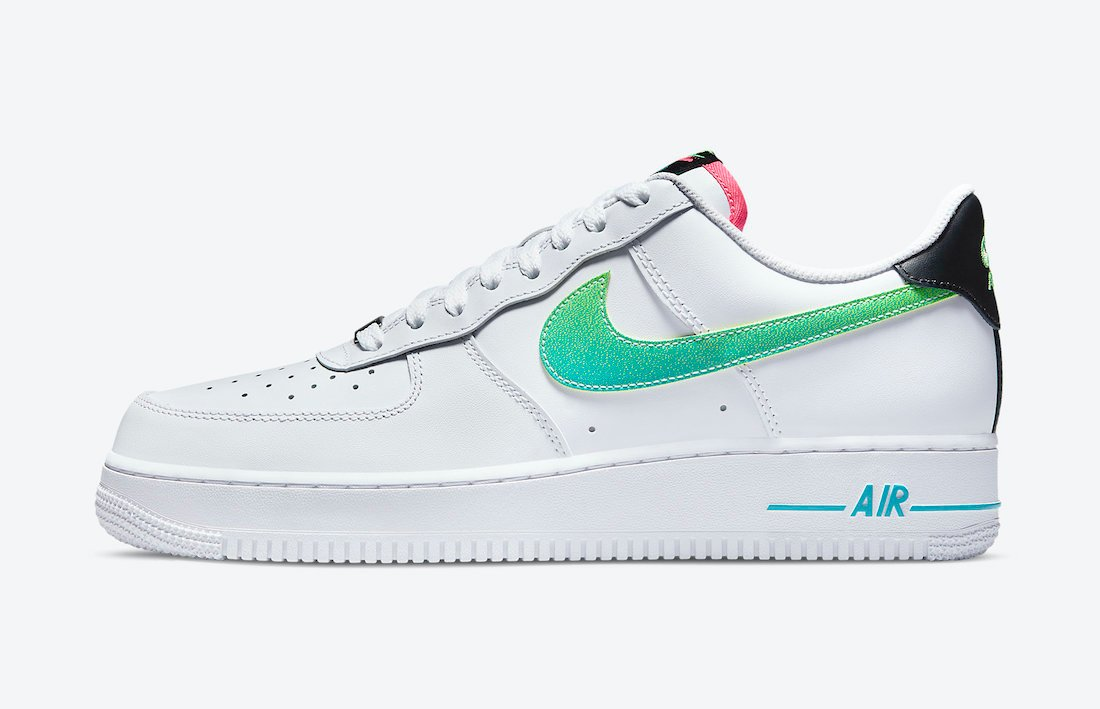 Nike Air Force 1 White Green Pink DJ5148-100