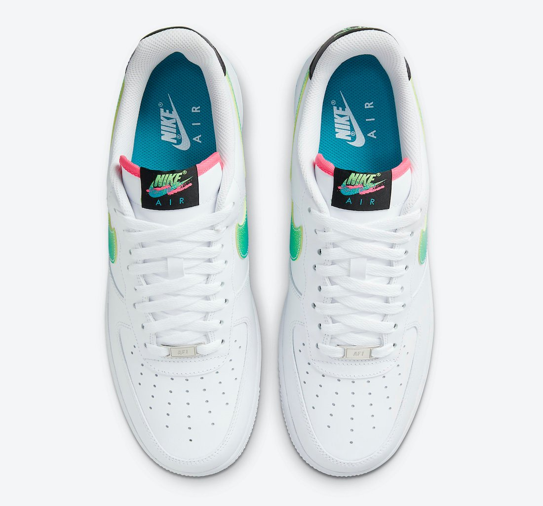 Nike Air Force 1 Low White Green Pink DJ5148-100 Release Date Info