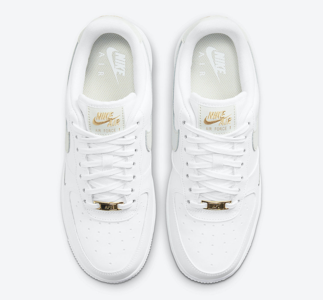 Nike Air Force 1 Low White Grey Gold CZ0270-106 Release Date Info