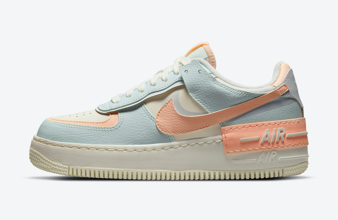 Nike Air Force 1 Shadow Barely Green Crimson Tint CU8591-104 Release Date Info