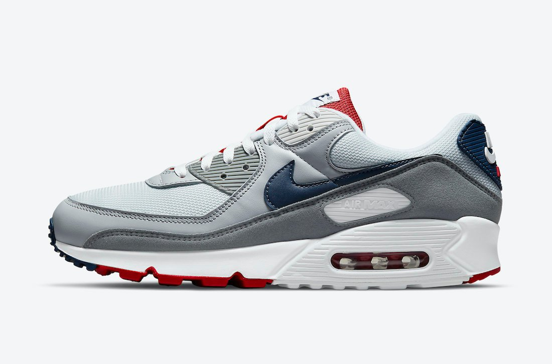 Nike Air Max 90 Pure Platinum Midnight Navy Wolf Grey CZ1846-001 Release Date Info