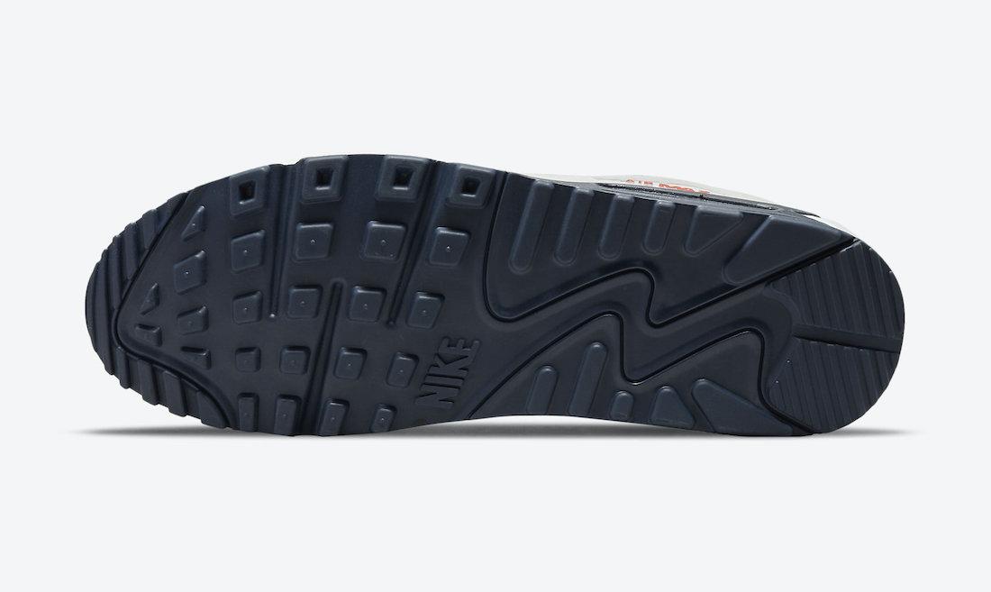 Nike Air Max 90 Sail Navy Blue Crimson DM2820-100 Release Date Info