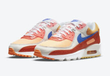 Nike Air Max 90 Snakeskin Campfire Orange Racer Blue Sail DJ8517-800 Release Date Info