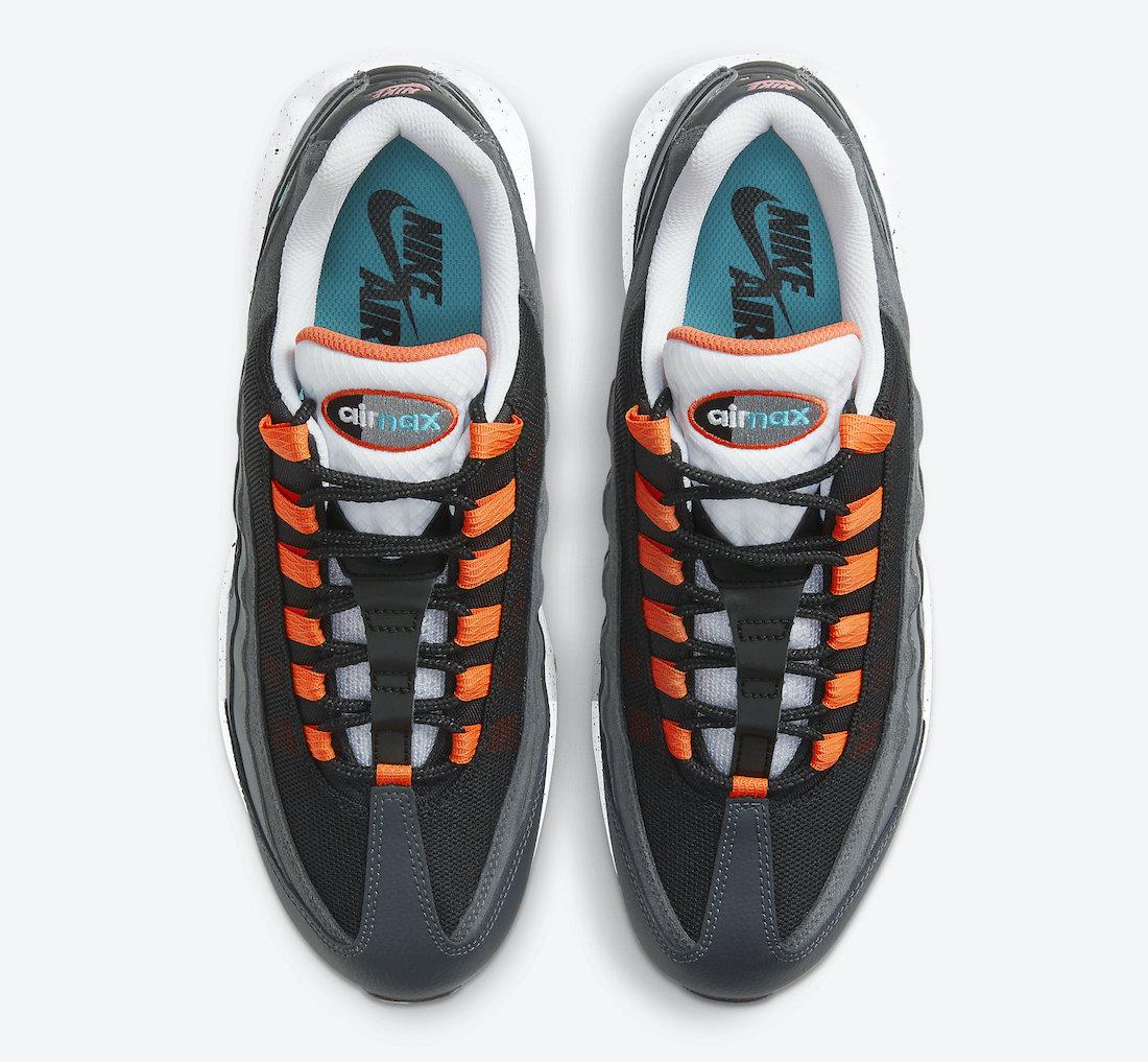 Nike Air Max 95 Grey Orange Teal CZ0191-001 Release Date Info