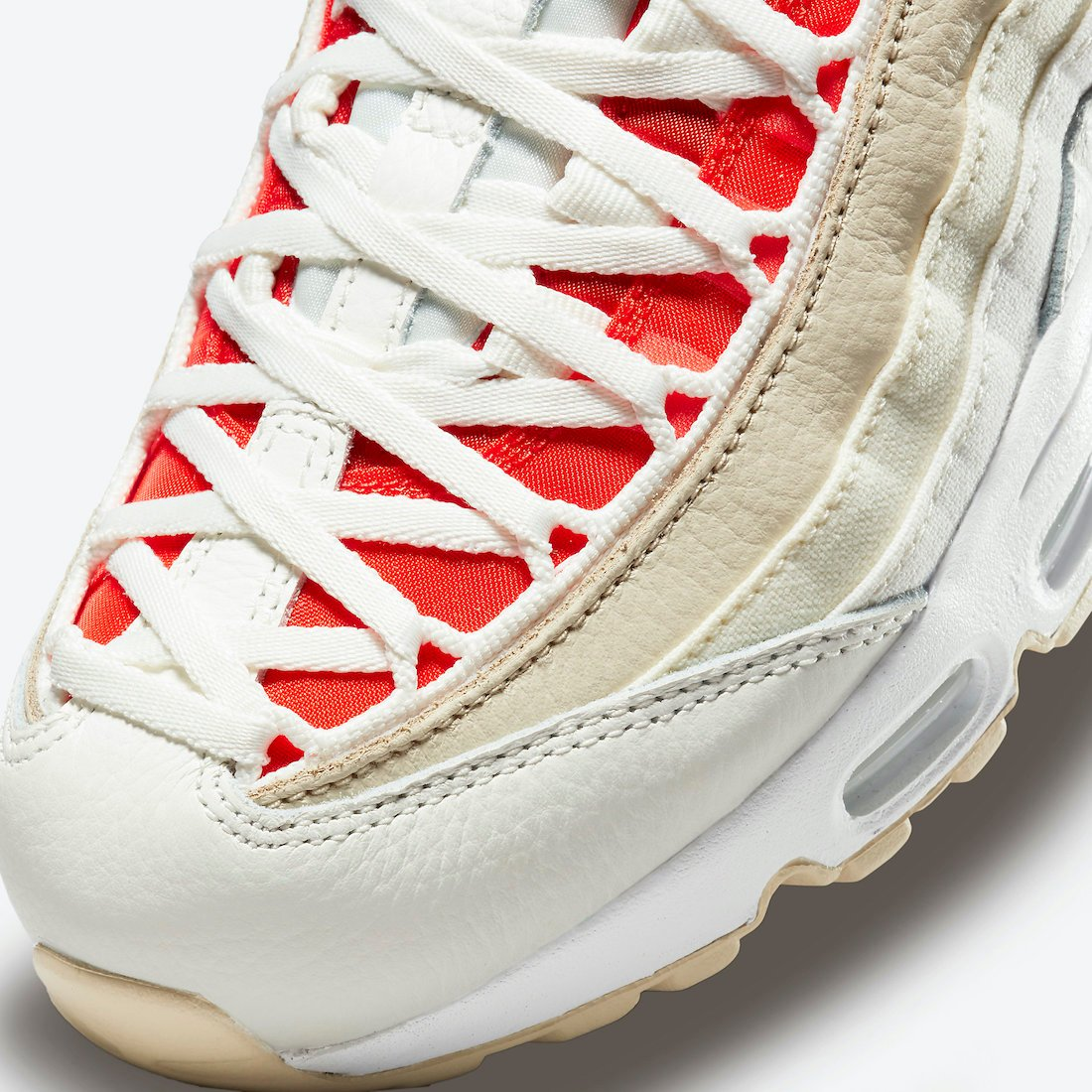 Nike Air Max 95 Sail Chile Red Coconut Milk DJ6903-100 Release Date Info