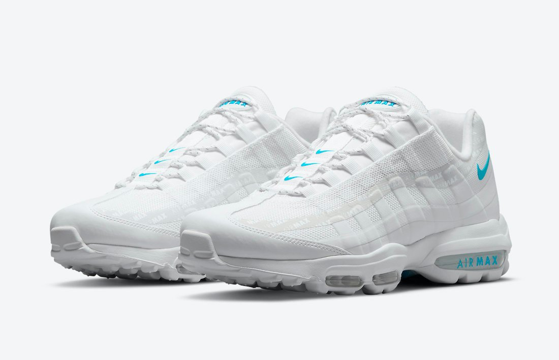 Nike Air Max 95 Ultra White Laser Blue DM2815-100 Release Date ...