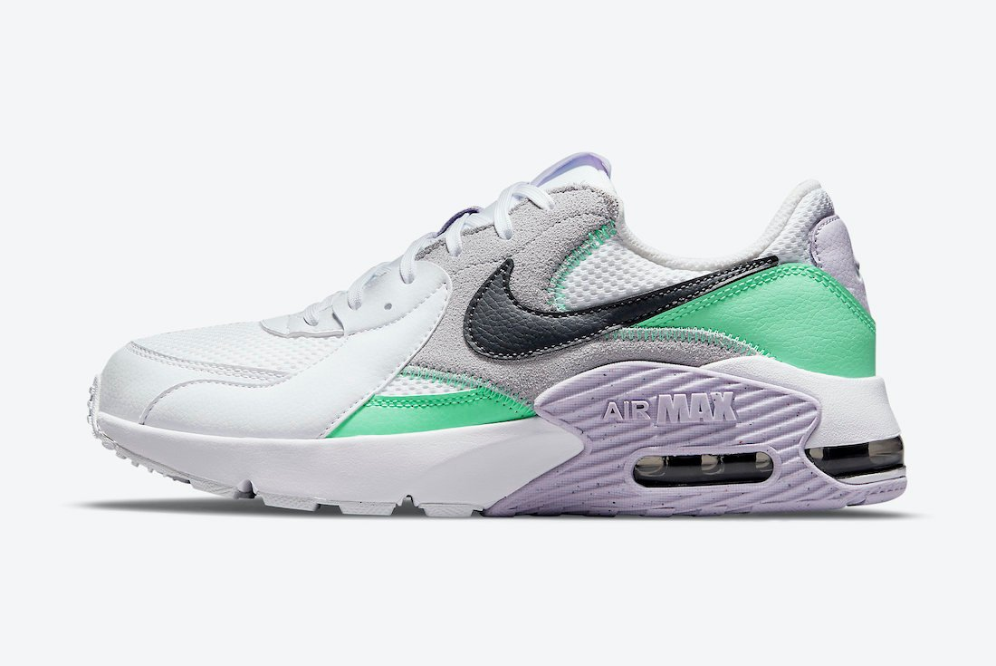 Nike Air Max Excee White Green Purple CD5432-113 Release Date Info
