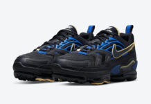 Nike Air VaporMax EVO Black Blue Yellow CZ1924-001 Release Date Info