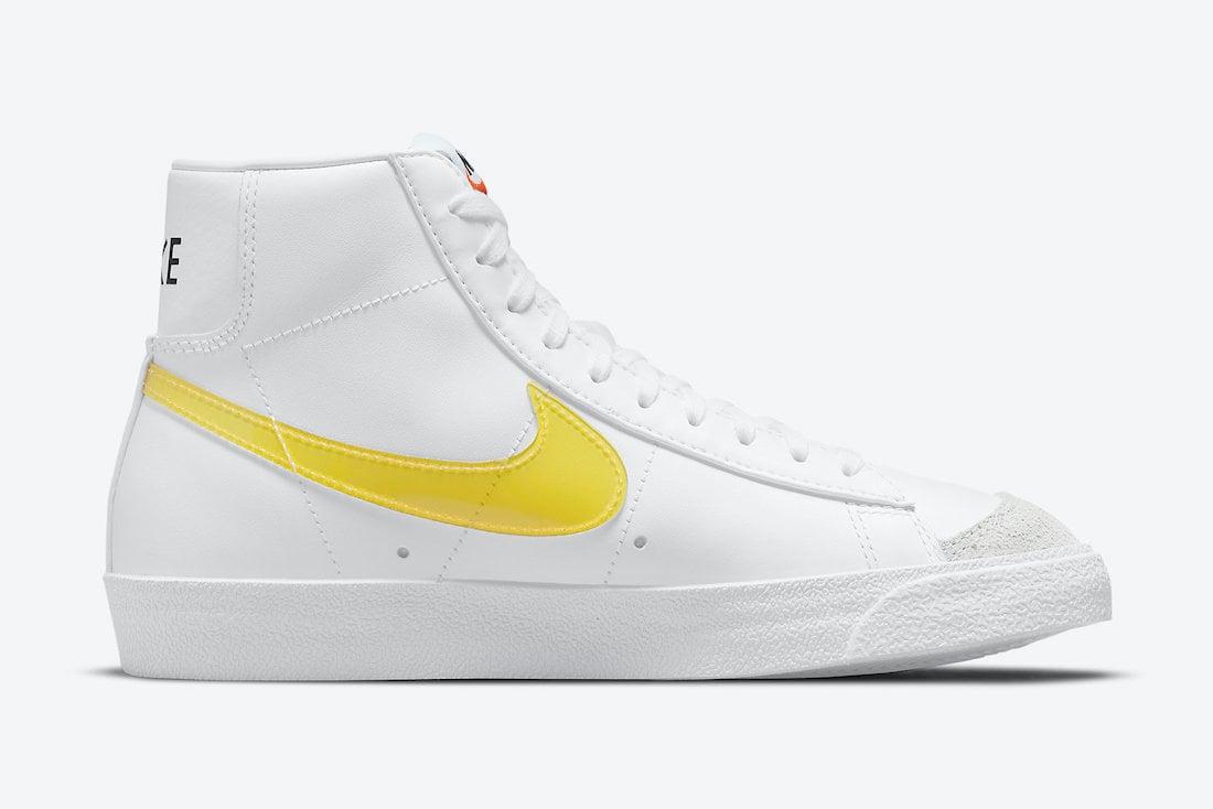 Nike Blazer Mid Yellow Swoosh DJ3050-101 Release Date Info
