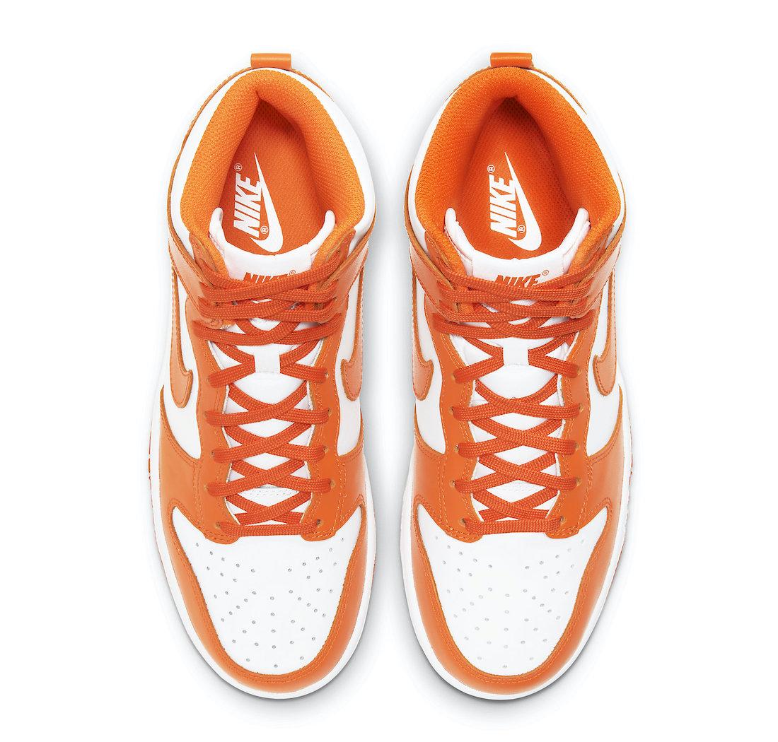 Nike Dunk High Orange Blaze Syracuse DD1869-100 Release Date
