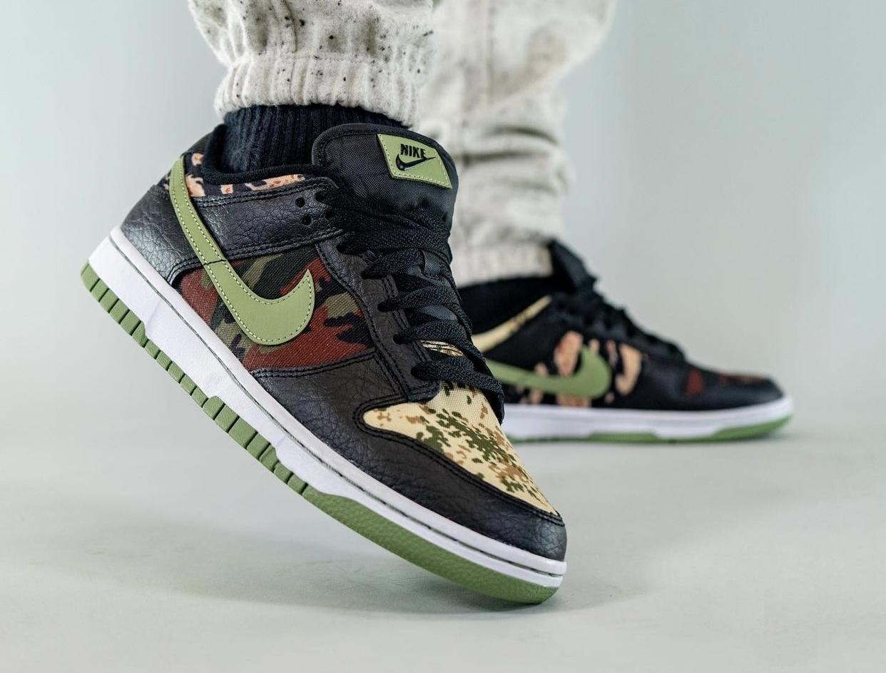 Nike Dunk Low Camo DH0957-001 On-Feet