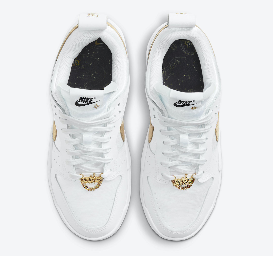 Nike Dunk Low Disrupt Metallic Gold DD9676-100 Release Date Info