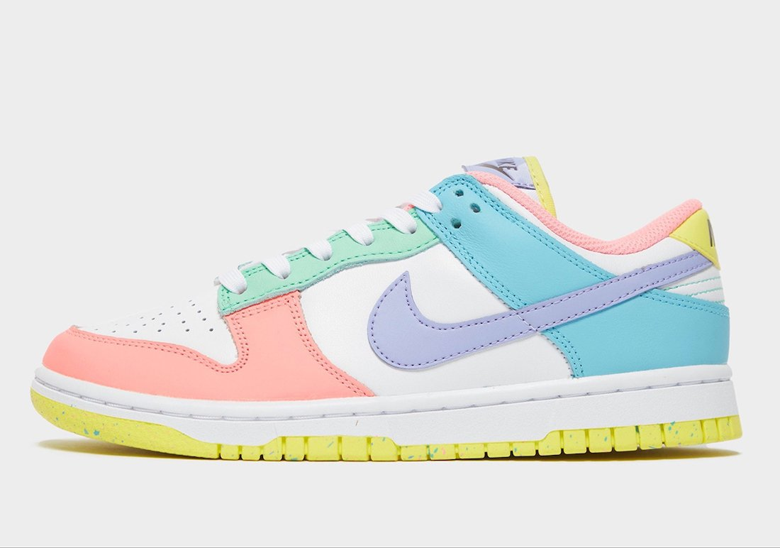 nike dunk low light soft pink ghost lime ice white dd1503 600 release date info 1