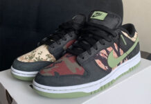 Nike Dunk Low SE Black Oil Green White Total Orange DH0957-001 Release Date Info