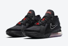 Nike LeBron 18 Low Black University Red CV7562-001 Release Date Info