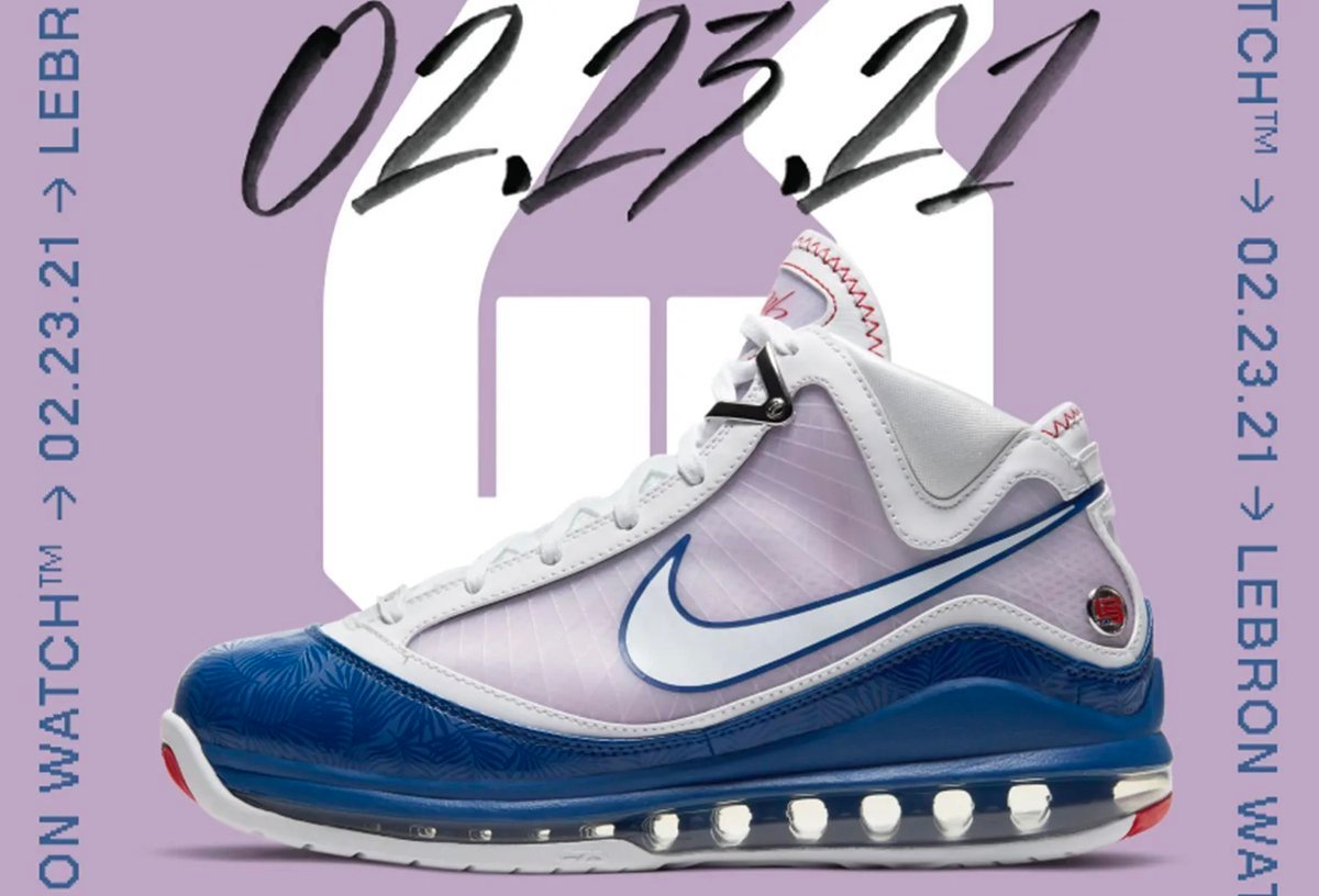 Nike LeBron 7 Baseball Blue Dodgers DJ5158-100 2021 Release Date