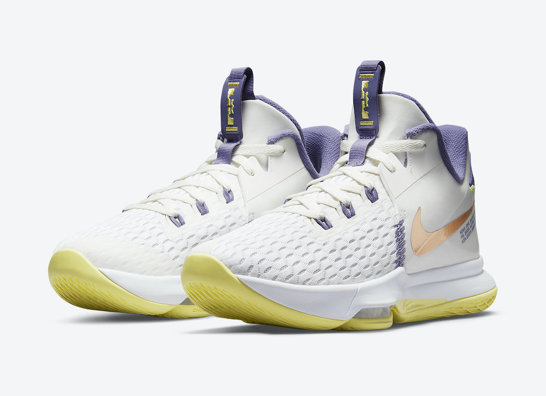 Nike LeBron Witness 5 Lakers Pastel CQ9381-102 Release Date Info