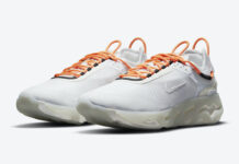 Nike React Live White Orange CV1772-102 Release Date Info