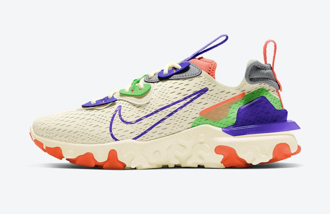 Nike React Vision Beige Multicolor CI7523-104 Release Date Info