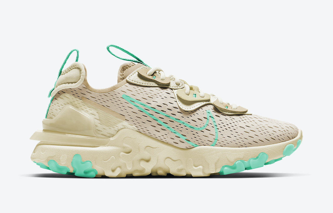Nike React Vision Khaki Mint Green CI7523-201 Release Date Info