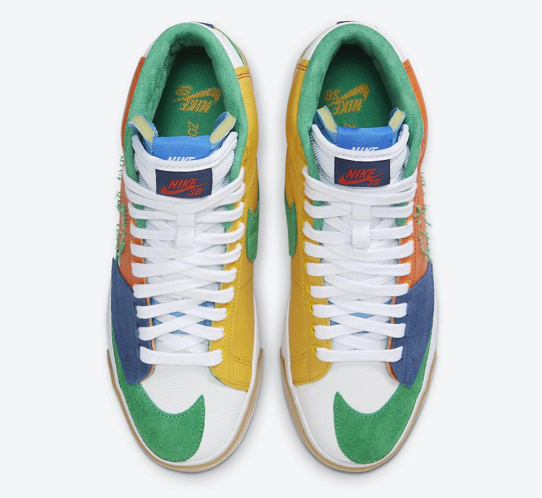 Nike SB Blazer Mid Edge Multi-Color DA2189-800 Release Date Info