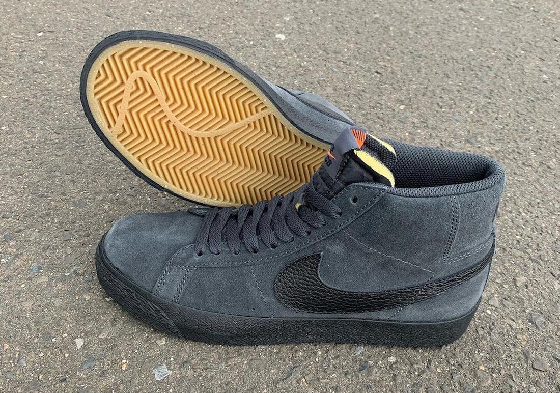 Nike SB Blazer Mid Orange Label Dark Smoke DB3027-001 Release Date Info