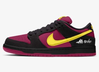 Nike SB Dunk Low Red Plum Black Taxi Citron BQ6817-501 Release Date Info