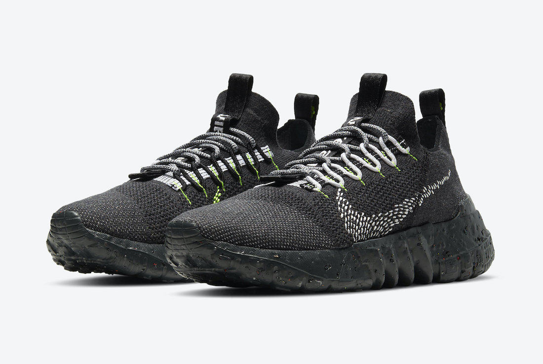 Nike Space Hippie 01 Anthracite Black Volt DJ3056-001 Release Date Info