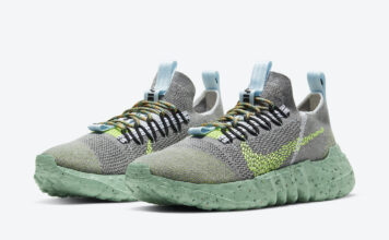 Nike Space Hippie 01 Wolf Grey Volt Black White DJ3056-002 Release Date Info