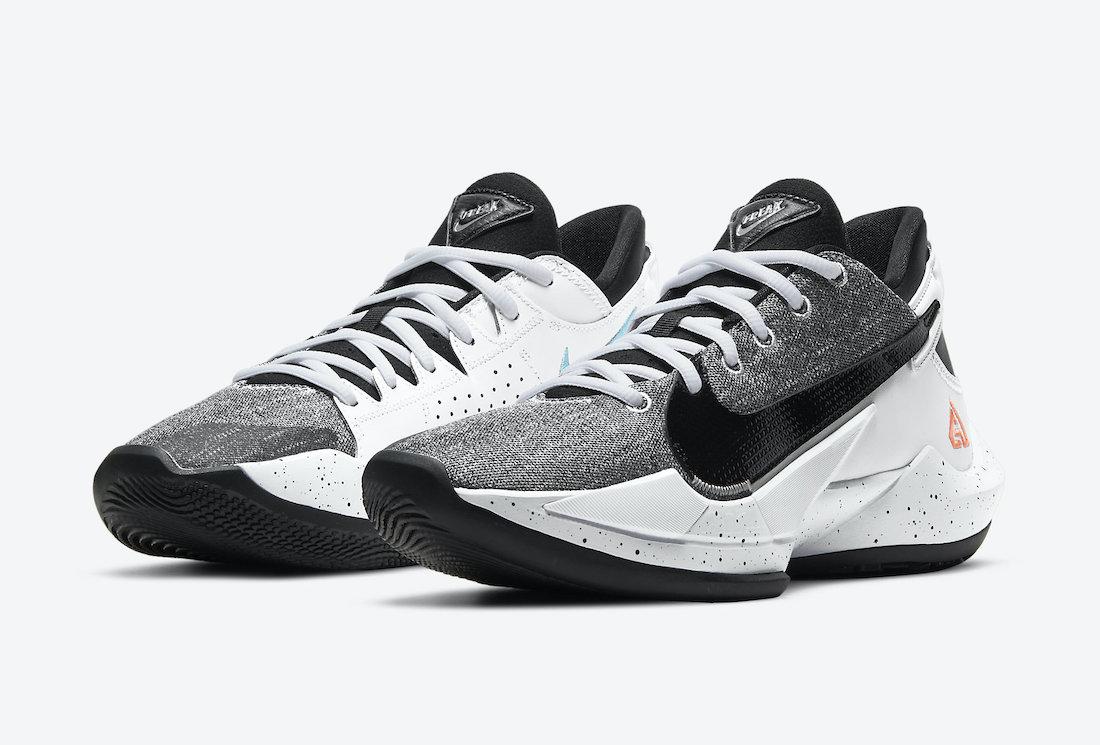 Nike Zoom Freak 2 White Black Bright Mango CK5424-101 Release Date Info