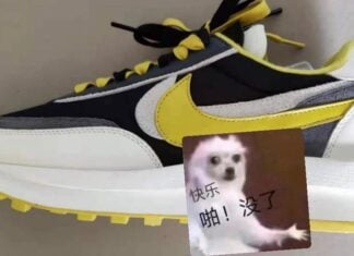 Sacai Nike LDWaffle Black White Yellow Release Date Info