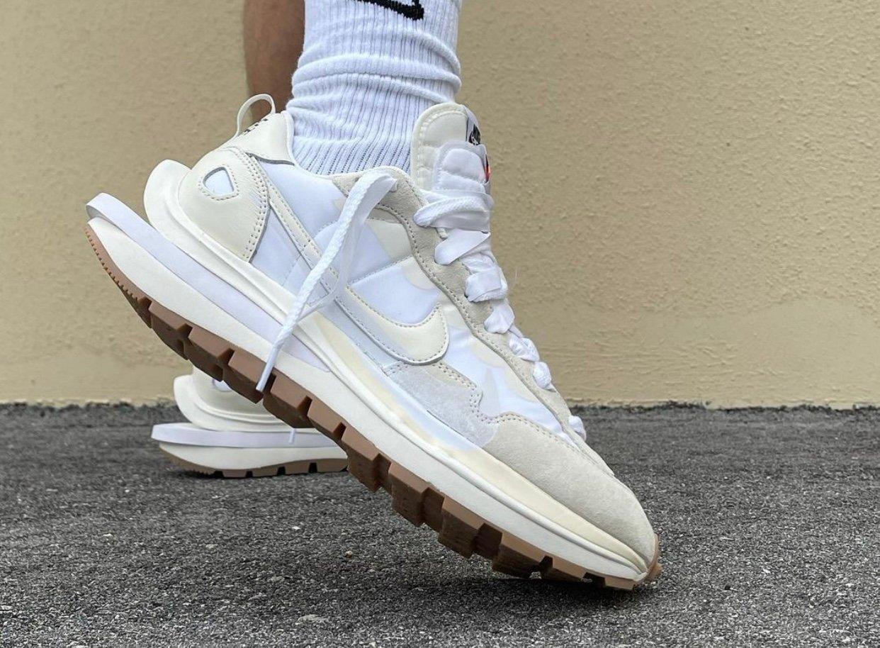Sacai Nike VaporWaffle White Sail Gum On-Feet