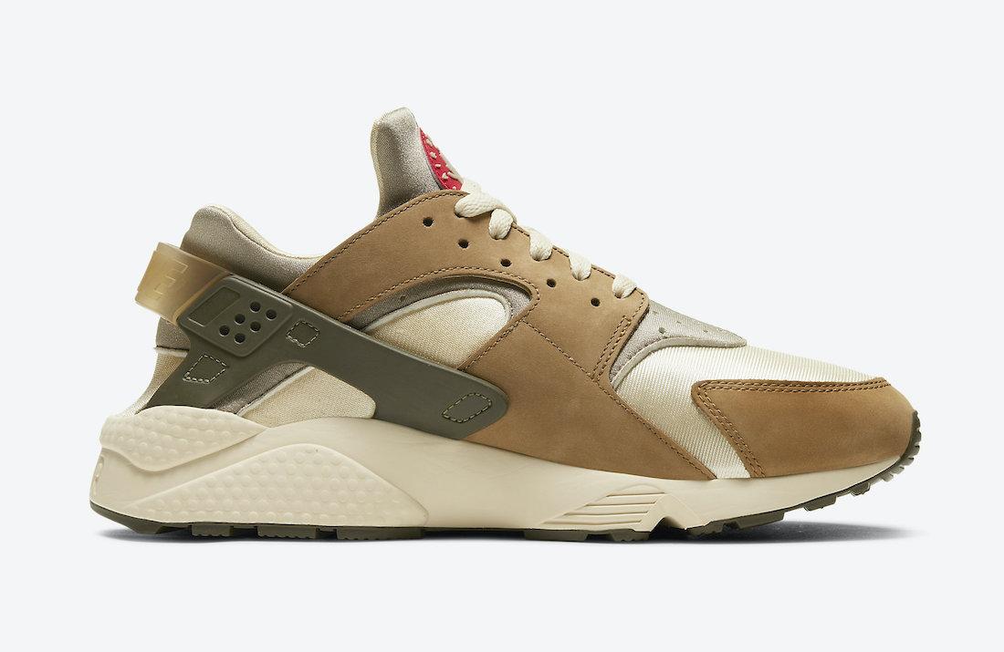 Stussy Nike Air Huarache Desert Oak DD1381-200 Release Info Price