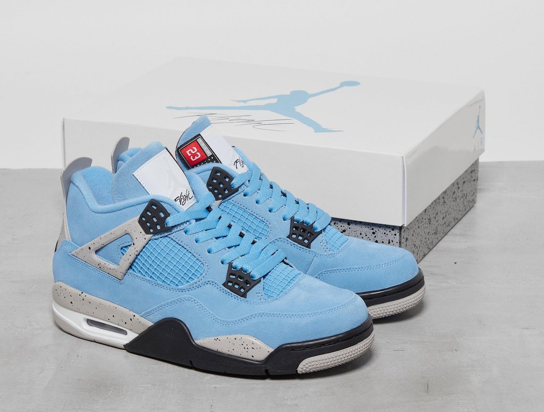 University Blue Air Jordan 4 Release Info CT8527-400