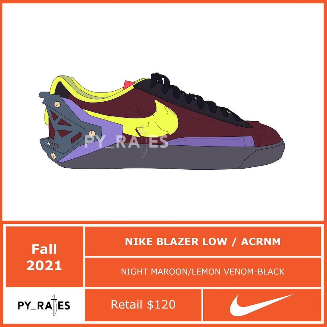 Acronym Nike Blazer Low Release Date Info