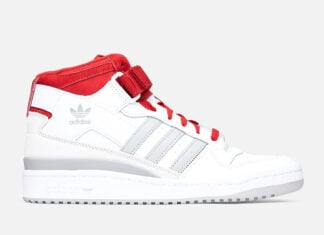 adidas Forum Mid White Grey Red FY6819 Release Date Info