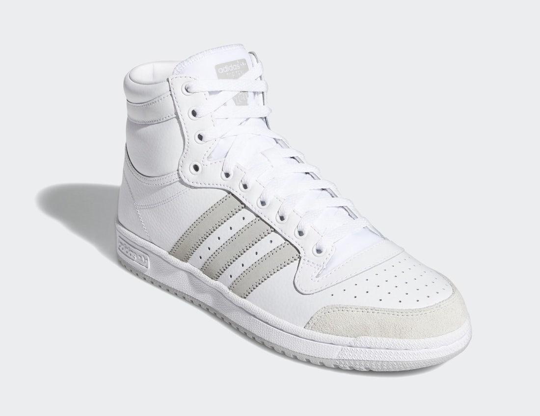 adidas Top Ten White Grey FY7096 Release Date Info
