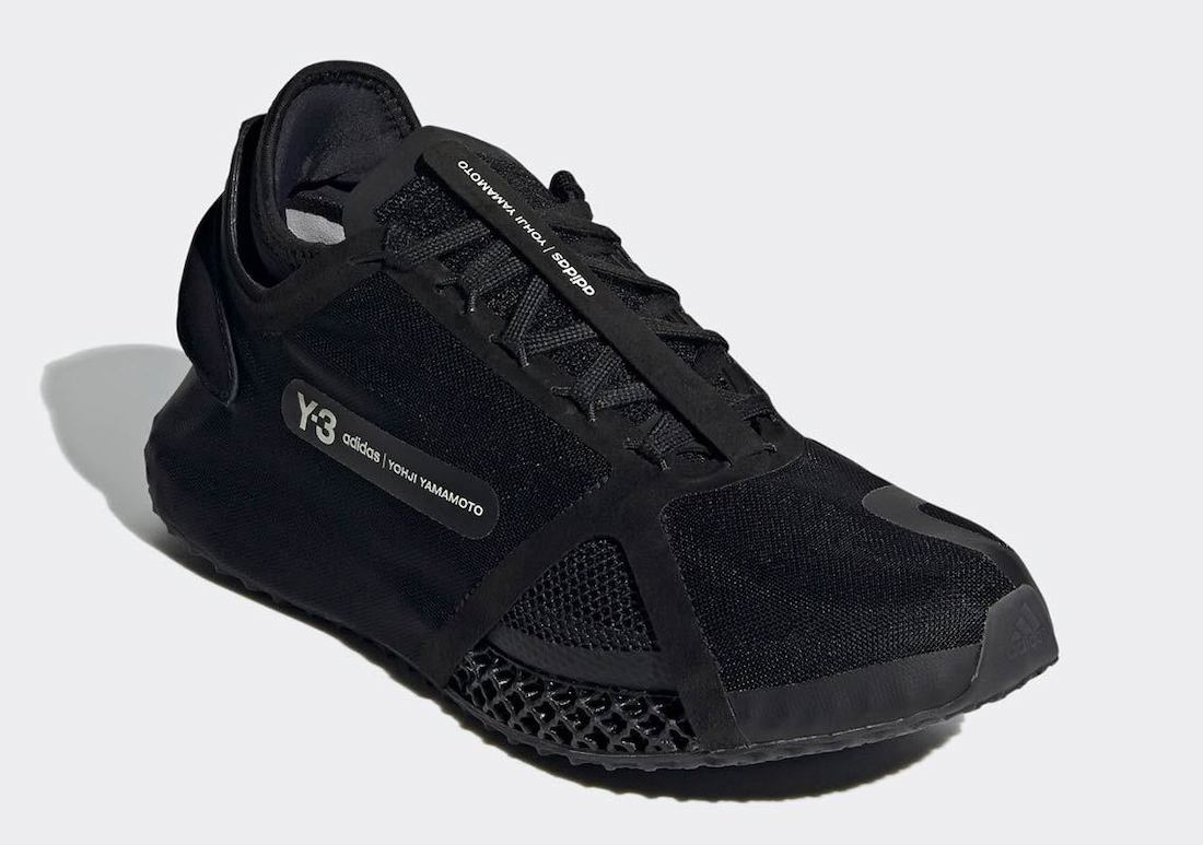 adidas Y-3 Runner 4D IO Black FZ4502 Release Date Info