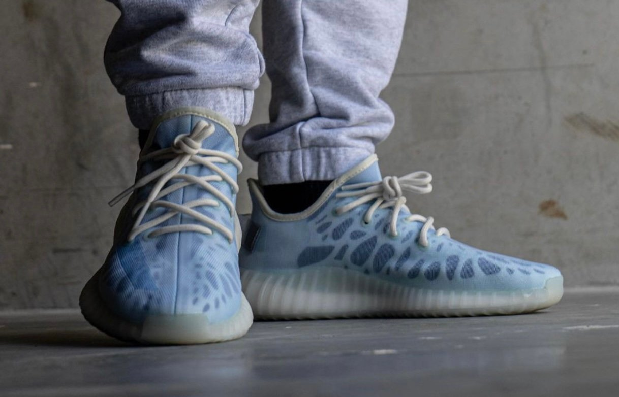 adidas Yeezy Boost 350 V2 Mono Ice GW2869 On-Feet